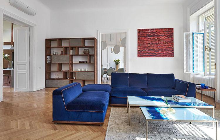 Ristrutturazione di una residenza a Budapest dello studio Spirit Home, zona living