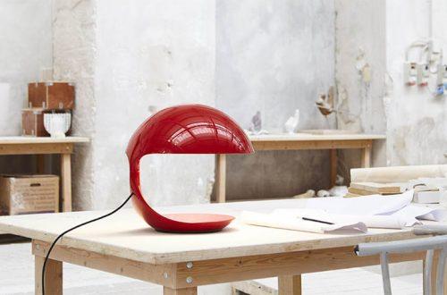 Lampada Cobra di Martinelli in colorazione rossa