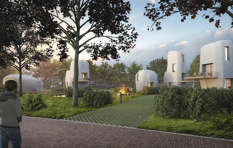 Stampa 3d di case, progetto milestone in Olanda
