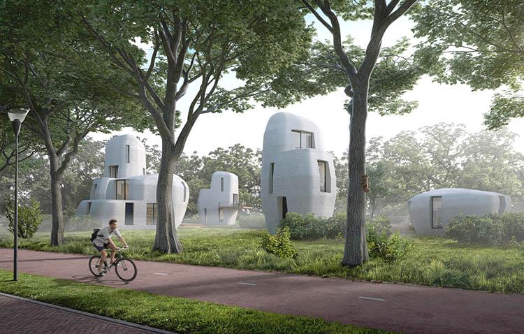Stampa 3d di case, ad Eindhoven ecco le prime case stampate in 3d.
