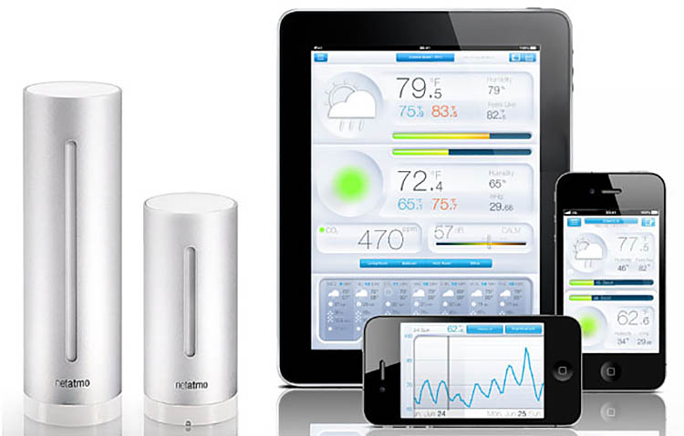 stazione meteo netatmo, app per telefono e tablet