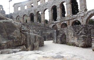 Vista dei resti dell'Arena di Pola