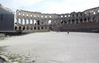 Arena di Pola, parte centrale dell'anfiteatro