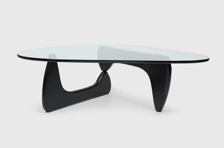 Noguchi coffee table - struttura laccata nera