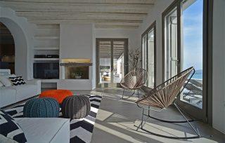 Villa Aela, soggiorno con vista sul mare