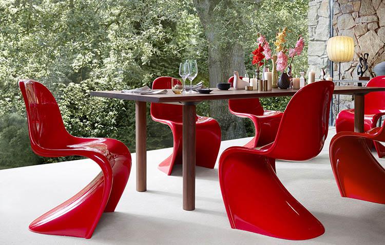 sedia panton rossa by vitra