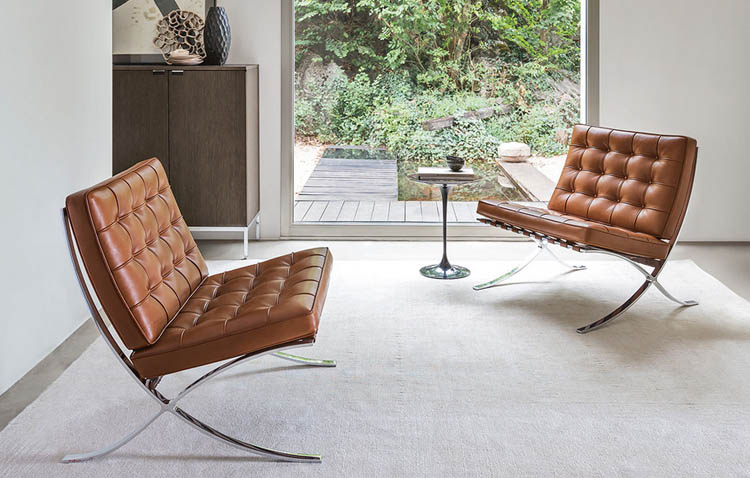 poltrona icona di stile: barcelona chair by Mies Van der Rohe