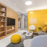 10° House-bloggo-giallo-cucina-vista-soggiorno