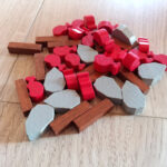 gioco da tavolo paleo - token cibo legno pietra